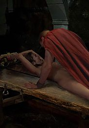 She's completely stretched out - Roman decadence by Damian art