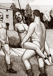 Punishment - whip those big tits harder, honey, make the slave dance on my cock by Badia