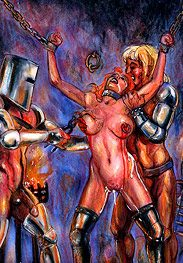 Ironmaster - First he flogs her mercilessly on her open vagina by Mr.Kane
